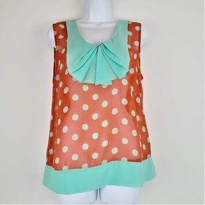 Anthropologie Lulumari Blouse Sz L Sleeveless